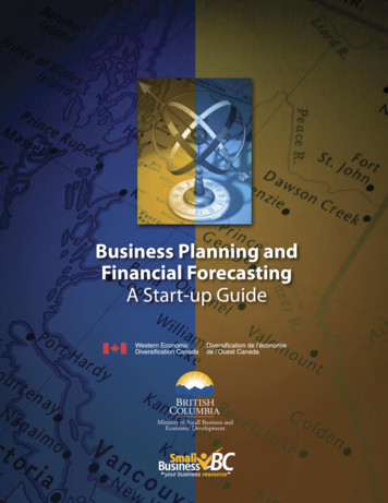 BUSINESS PLANning and Financial Forecasting - A Start-Up Guide