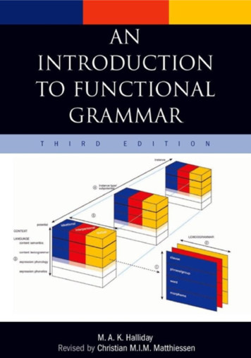 An Introduction to Functional Grammar - UEL