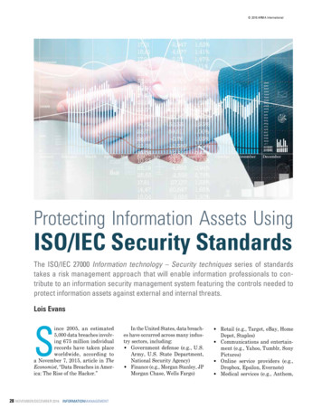 Protecting Information Assets Using ISO/IEC Security Standards