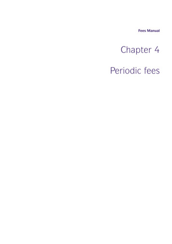 Chapter 4 Periodic fees - FCA Handbook