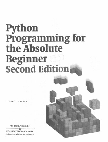 Python Programming for the Absolute Beginner Second Edition