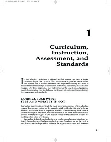 Curriculum, Instruction, Assessment, and Standards