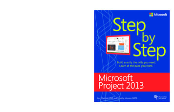 Microsoft Project 2013 Step by Step - pearsoncmg