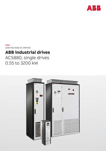 LOW VOLTAGE AC DRIVES ABB industrial drives ACS880, single .
