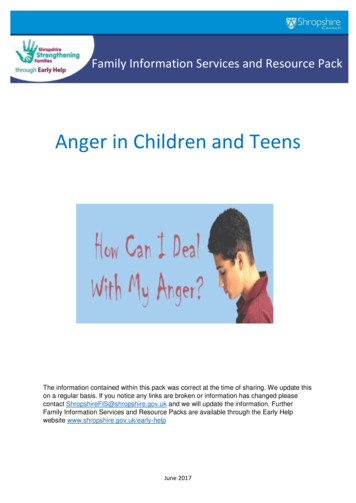 Anger in Children and Teens - Shropshire Council elections