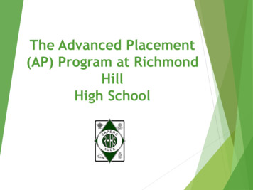 The Advanced Placement (AP) Program at Richmond Hill High .