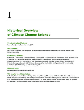 Historical Overview of Climate Change Science