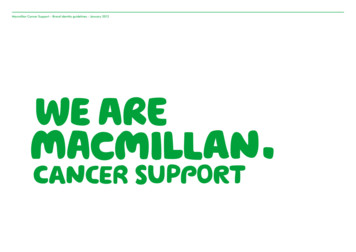 Macmillan Cancer Support – Brand identity guidelines .
