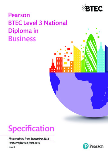 Pearson BTEC Level 3 National Diploma in Business