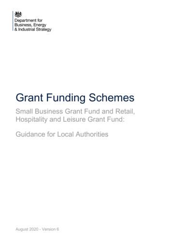 Grant Funding Schemes