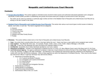 Nonpublic and Limited-Access Court Records - Michigan