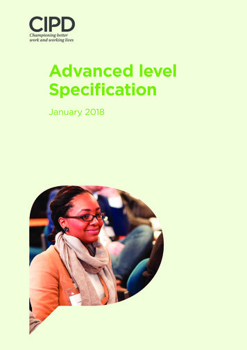 Advanced level Specification - CIPD