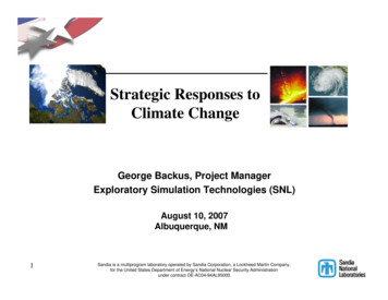 Strategic Responses to Climate Change