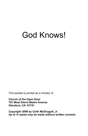 God Knows! - Bible
