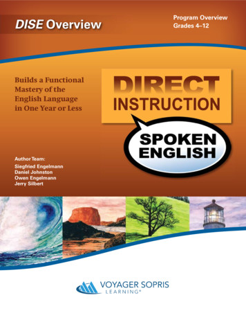 Builds a Functional Mastery of the English Language in One .