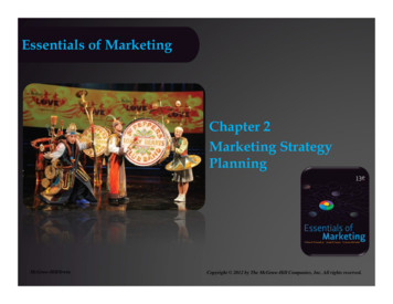 Essentials of Marketing Chapter 2 Marketing Strategy Planning