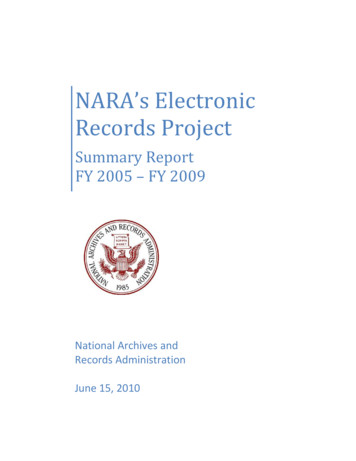 NARA's Electronic Records Project - Archives