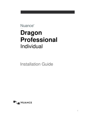 Install Guide - Dragon Professional Individual, v15