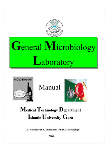 General Microbiology Laboratory
