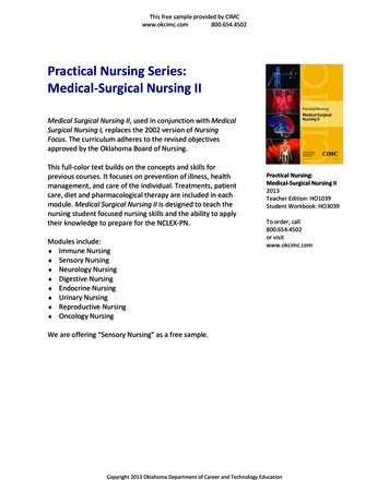 Practical Nursing Series: Medical-Surgical Nursing II