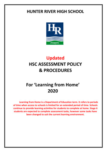 Updated HSC ASSESSMENT POLICY & PROCEDURES