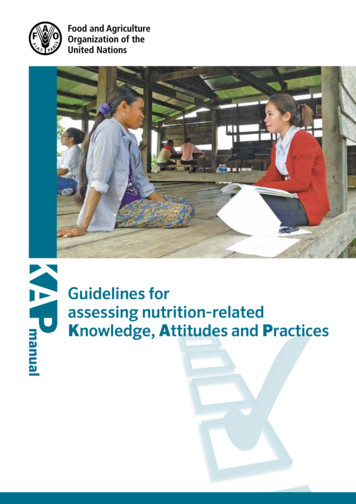Guidelines for assessing nutrition-related knowledge .