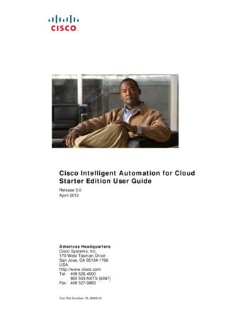 Cisco Intelligent Automation for Cloud 3.0 Starter Edition .