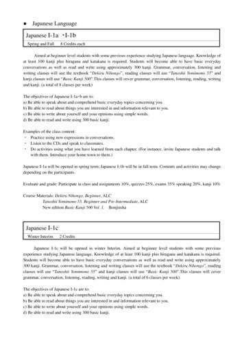 Japanese Language - 名古屋学院大学