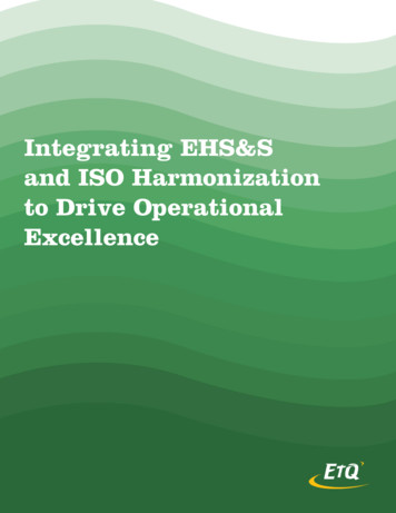 Integrating EHS&S and ISO Harmonization to Drive .