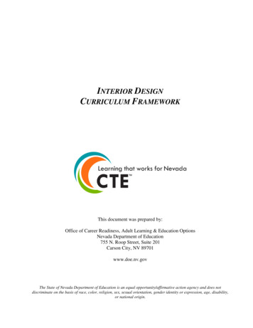Interior Design Curriculum Framework