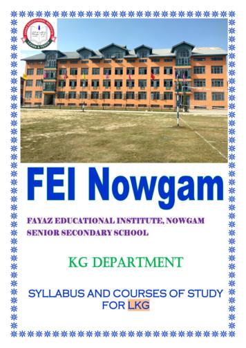 KG DEPARTMENT - feinowgam