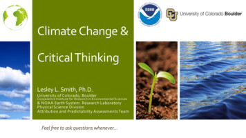 Climate Change & Critical Thinking