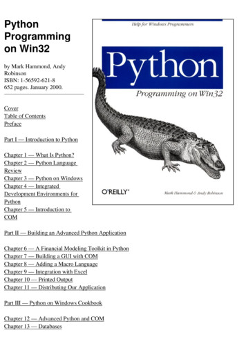 Python Programming on Win32 - zulfahmed