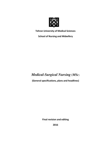 Medical-Surgical Nursing (MSc