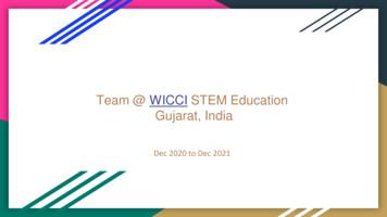 Team @ WICCI STEM Education Gujarat, India