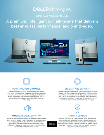 "OPTIPLEX 7780 ALL-IN-ONE A premium, intelligent 27"" all-in ."