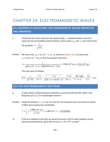 CollegePhysics StudentSolutionsManual Chapter24