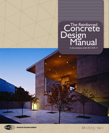Concrete The Reinforced Design Manual