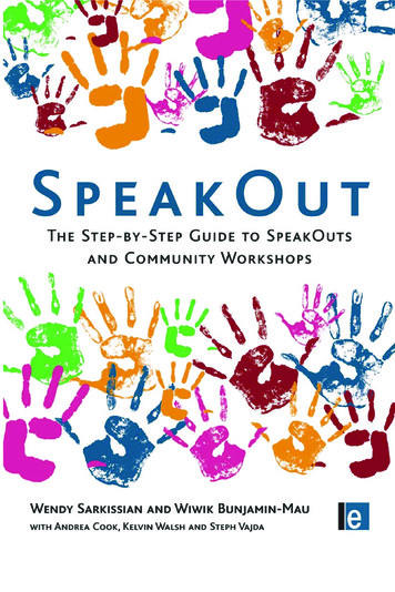 Further praise for SpeakOut - United Diversity