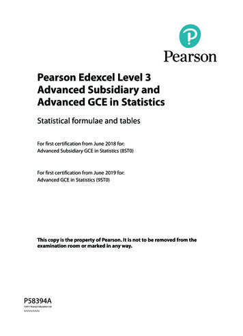 Pearson Edexcel Level 3 Advanced Subsidiary and Advanced .