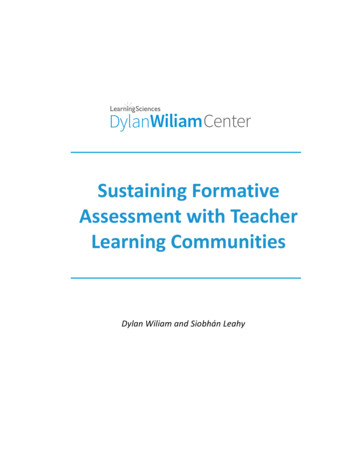 SustainingFormative) AssessmentwithTeacher' Learning .