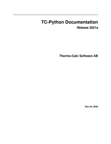 TC-Python Documentation - Thermo-Calc