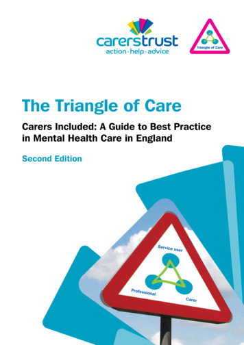 The Triangle of Care - Carers Trust