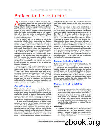Preface to the Instructor A - Higher Education Pearson
