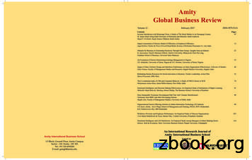 Amity Global Business Review - Taylor's Education Group