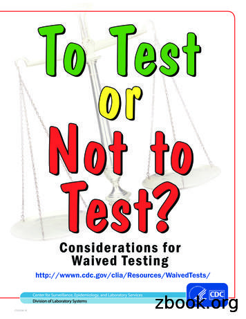 To Test or Not to Test