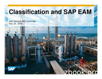 Classification and SAP EAM - Texas A&M University