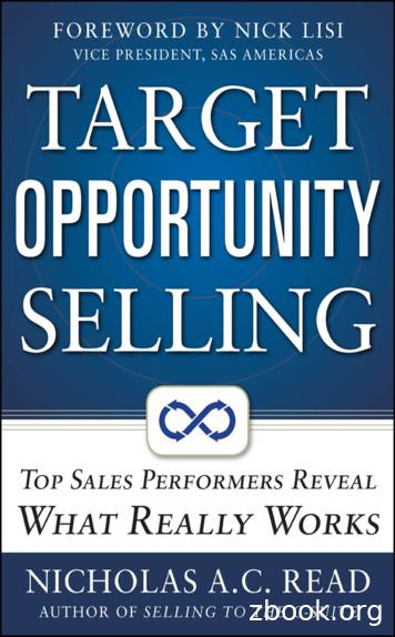 Target Opportunity Selling 978-0-07-177307-2