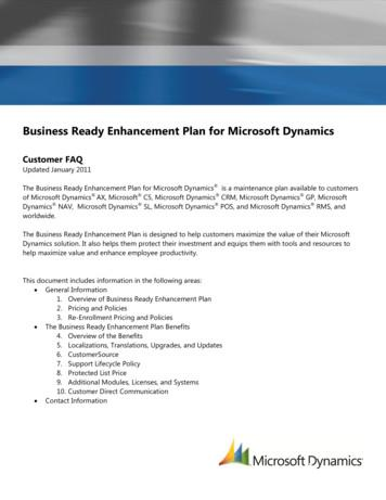 Business Ready Enhancement Plan for Microsoft Dynamics