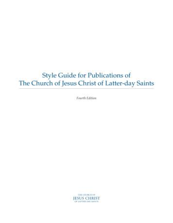 Style Guide for Publications of The Church of Jesus Christ .